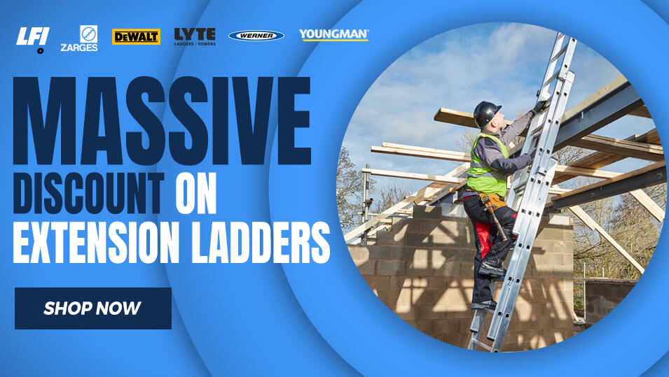 Massive discount on extension ladders