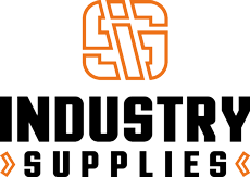Industries supplies logo black outline